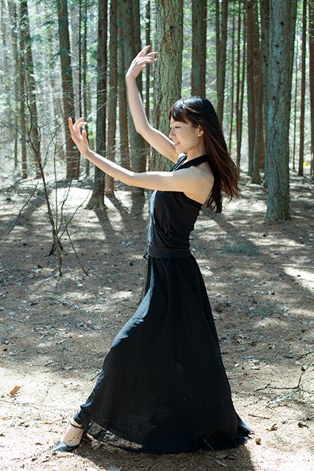 森の中で連続写真3