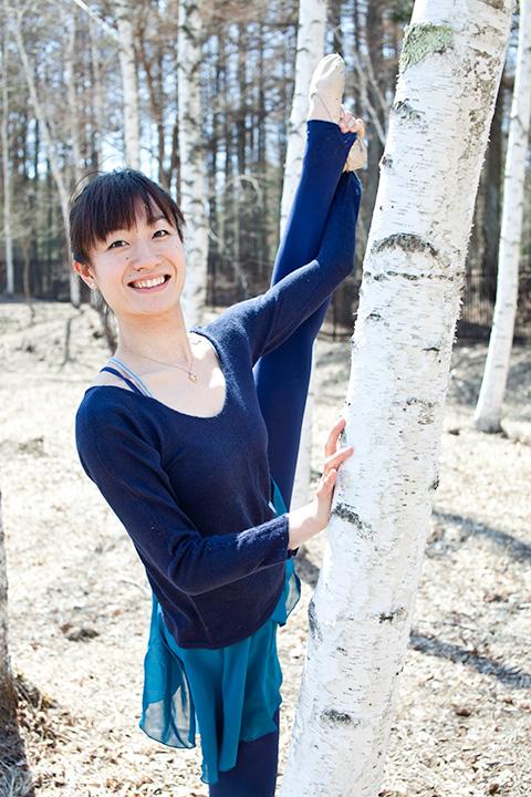 白樺の森でスマイル