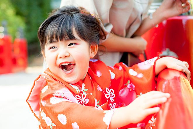 亀さんいたー!と大喜びの女の子