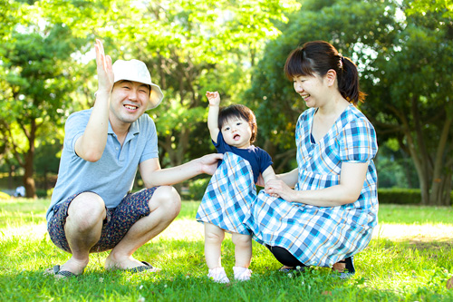 ご家族3人のお写真