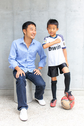 サッカー選手とお父さま