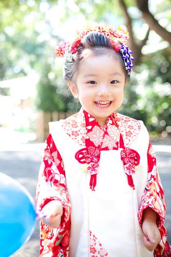 とびきりの笑顔の女の子