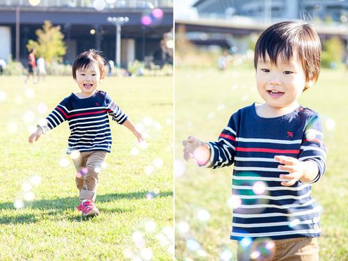 走り回る男の子
