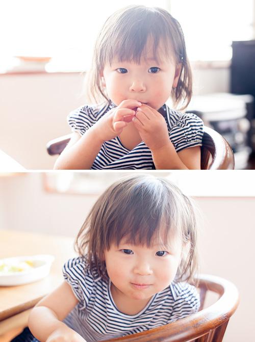おかしを食べて元気になる女の子