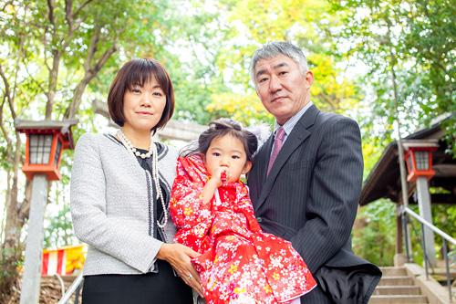 ご家族の記念写真