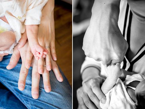 お父さまお母さま男の子の手